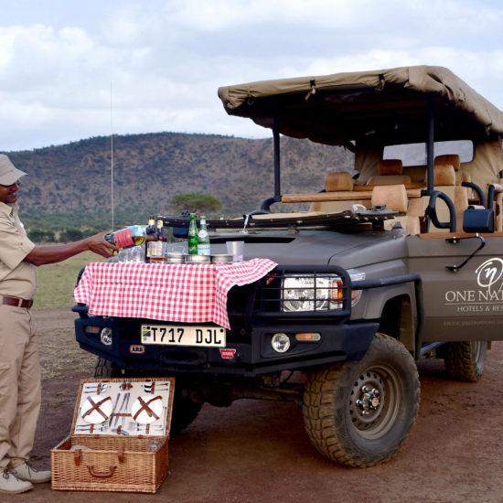 Drink stop on safari