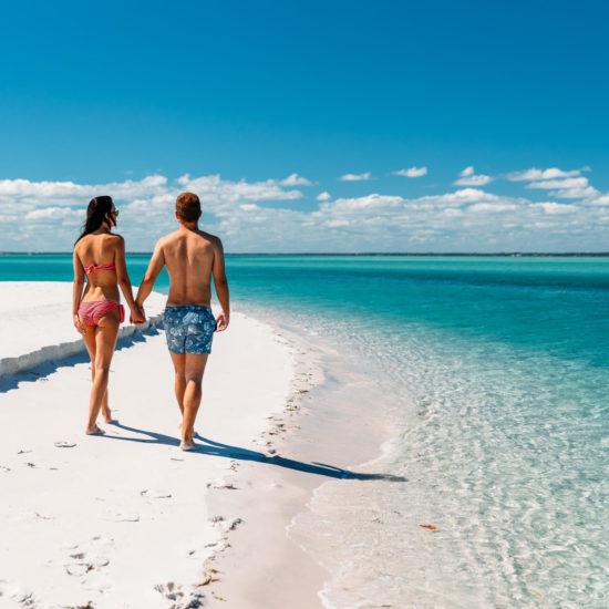Beach walk at Santorini in Mozambique