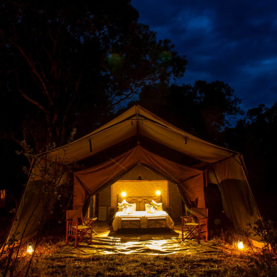 Endaidura Camp Tent at Night