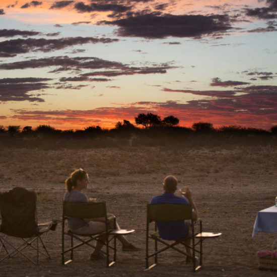 Sundowners at Tswalu