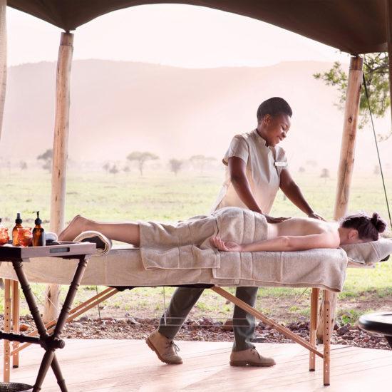 Massage on safari