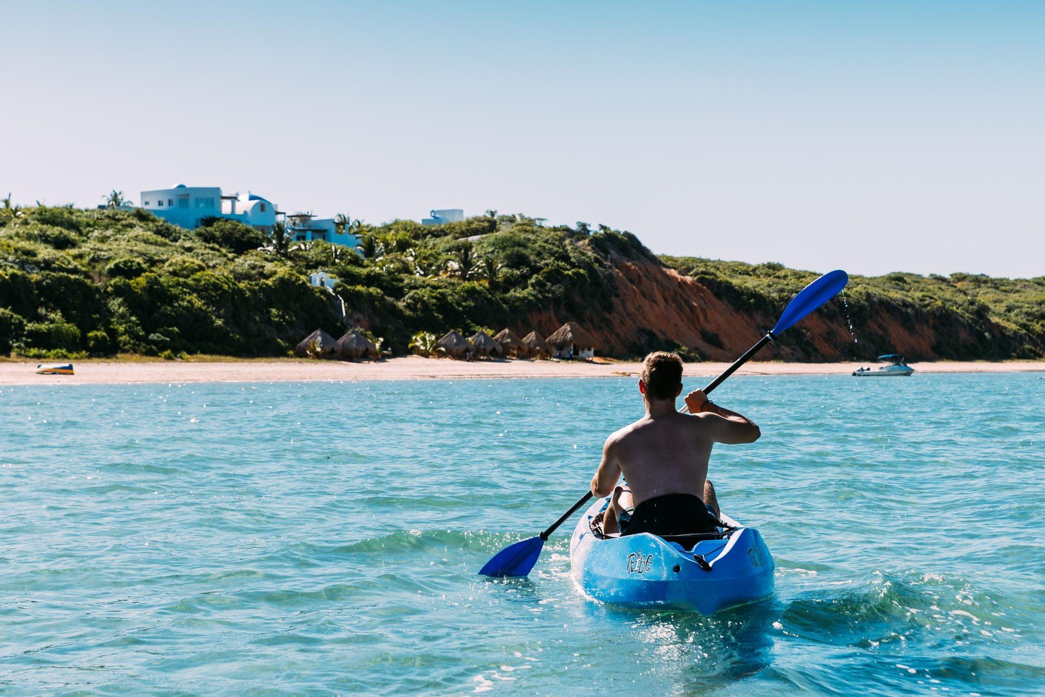 kayaking at Santorini