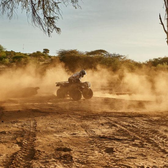 Quad bikes in Samburu