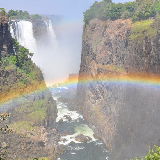 Vic Falls with rainbow