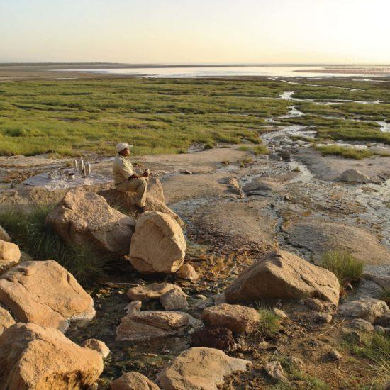 View at Lake Manyara