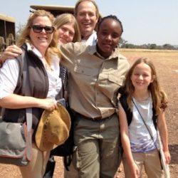 Family with guide at Singita Serengeti