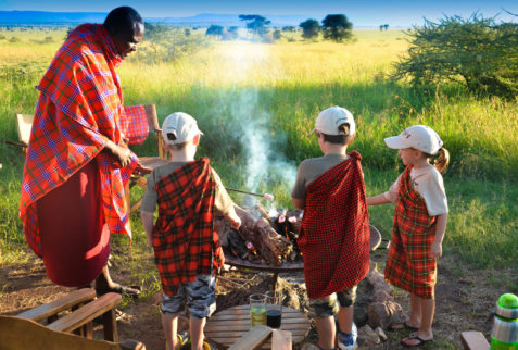 Kids with Masai