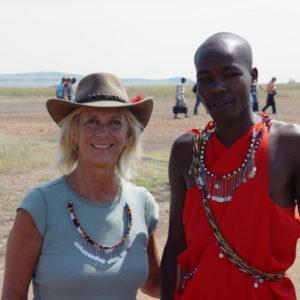 Anastasia & Masai at Air Strip, Kenya